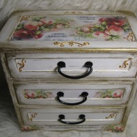 "Мини комод ""Музыка шебби"" / Mini chest of drawers ""Shabby music """