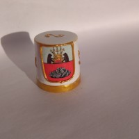 "Сувенирный напёрсток с гербом города ""Устюжны""/ Souvenir thimble with the coat of arms of the city ""Ustyuzhna"""